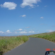 石狩浜へ向かう道です。